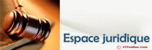Espace juridique sur 237online.com