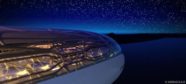 Avion transparent en 2050.