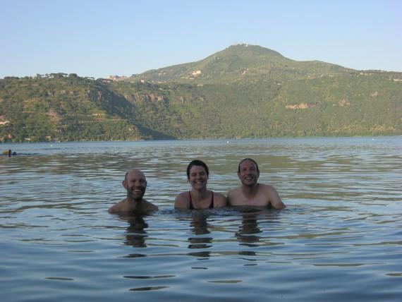 Lennart, Annie et moi après la traversée