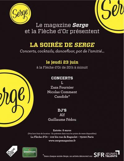 Ce soir, Candide en concert à la soirée Serge