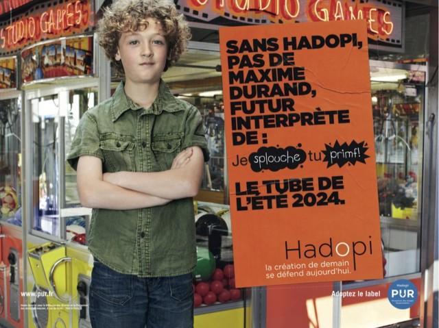 Campagne HADOPI Maxime Durand interprete 640x479 Campagne Hadopi PUR vidéos et affiches