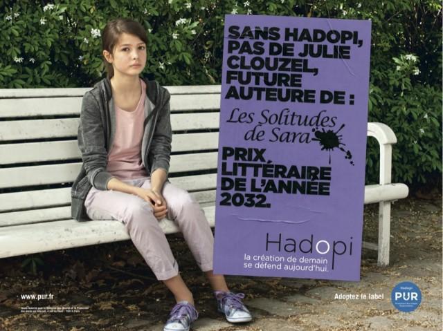 Campagne HADOPI Julie Clouzel auteure 640x479 Campagne Hadopi PUR vidéos et affiches