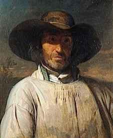 Portrait de paysan berrichon, Cals Adolphe Félix