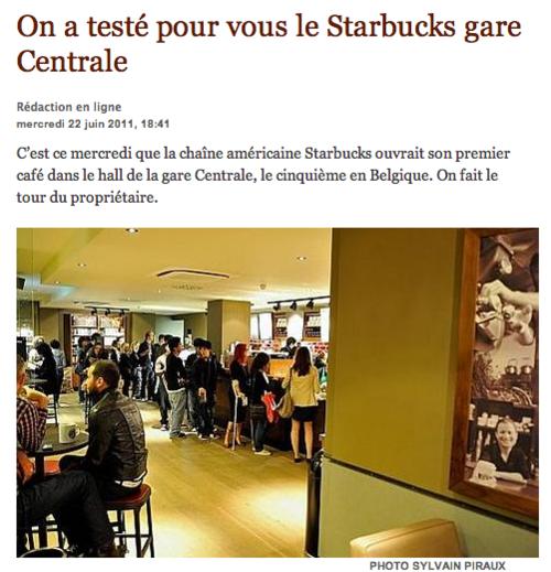 Je sais que tous les Starbucks sont pareils mais j'irai...