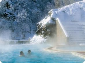 bains chaud pyrénées Orientales