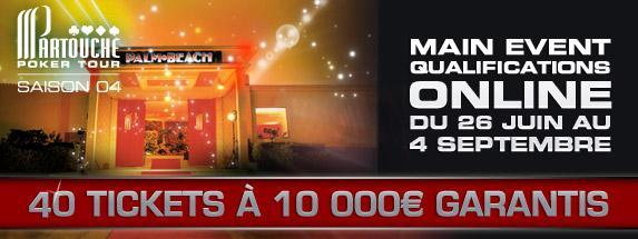Main Event du Partouche Poker Tour : qualifications sur partouche.fr !