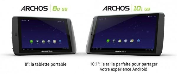 archos g9 600x250 Archos dévoile ses tablettes 80 G9 et 101 G9