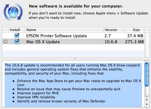 mac OS 10 6 8 Mac OS 10.6.8 disponible en téléchargement