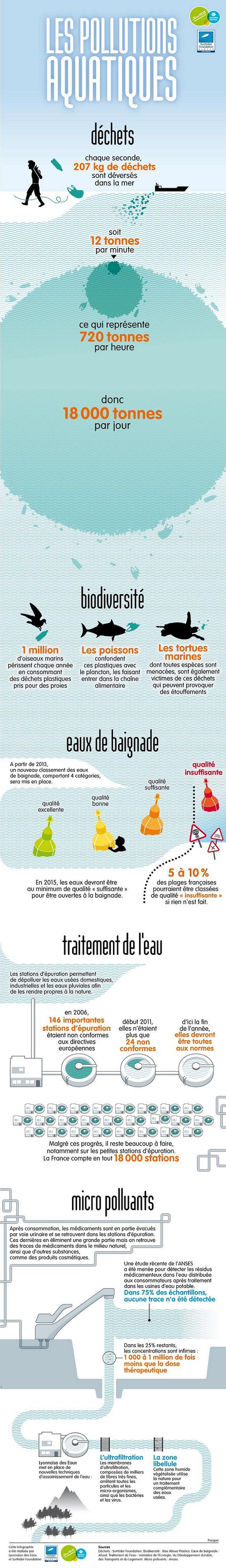Infographie sur les pollutions aquatiques