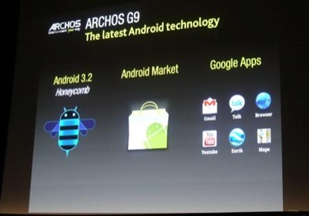 Android 3.2, version Honeycomb supportant les tablettes 7″