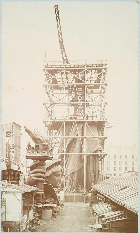 construction statue liberte new york 07 La construction de la Statue de la Liberté à Paris