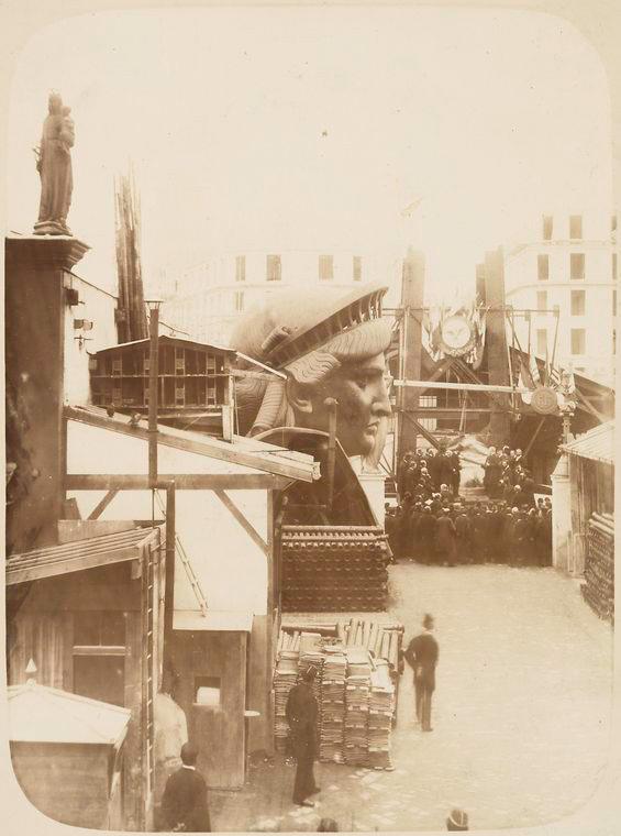 construction statue liberte new york 04 La construction de la Statue de la Liberté à Paris