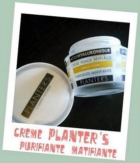 Crème purifiante matifiante de chez Planter's