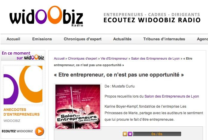 Widoobiz radio des entrepreneur