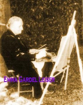 emma gardel leiser,peintre