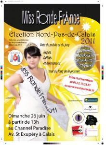 Réservations des places pour l'élection de Miss Ronde Nord pas de Calais