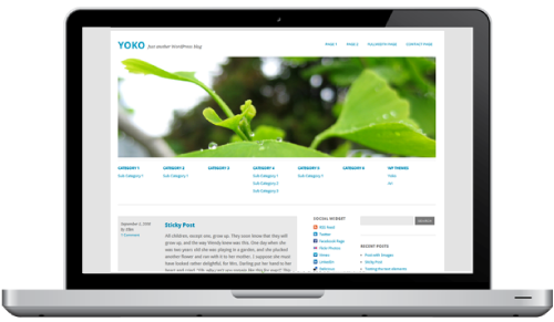 three column layout Yoko : Thème HTML5/CSS3 pour WordPress 3.1