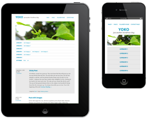 one column layout Yoko : Thème HTML5/CSS3 pour WordPress 3.1