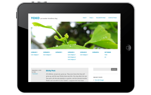 two column layout Yoko : Thème HTML5/CSS3 pour WordPress 3.1
