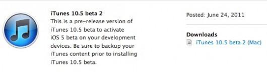 iTunes 10.5 bêta 2 disponible pour Mac