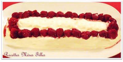 La recette Framboise : Framboises sur lit blanc rhum coco