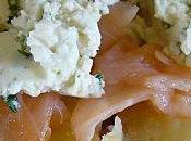 pommes terre boursin saumon fumé