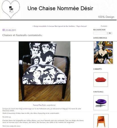 article une chaise nommée désir!