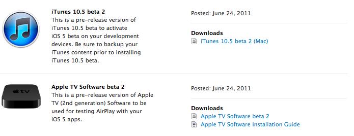 Apple publie iOS 5 bêta 2 pour iPhone / iPad avec Wi-fi Sync...