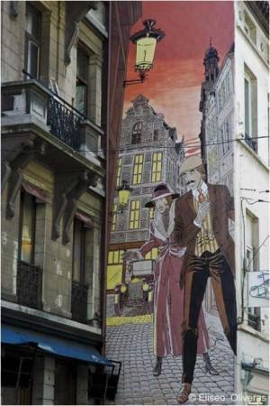 Peinture murale sur un immeuble de Bruxelles