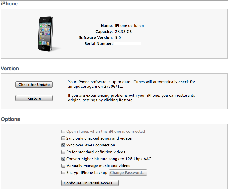 iOS 5.0 : Synchronisation Wi-Fi enfin possible…