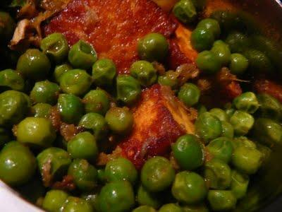 Matar paneer – Fromage indien avec des petits pois – Indian cheese and peas