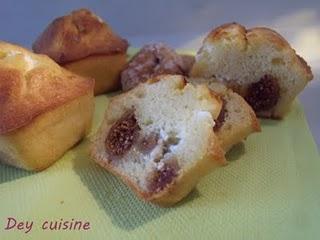 Mini cakes au fromage de chèvre & figue sèche