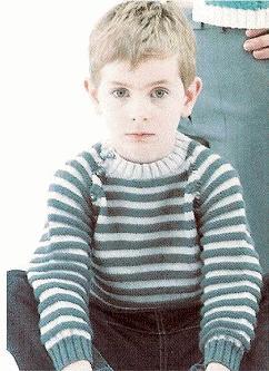 modèle tricot gratuit pull_raye_garcon