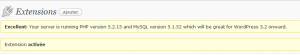 WordPress plugin Health check réponse du serveur