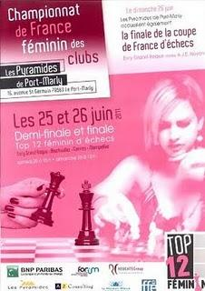 L'affiche du Top 12 féminin d'échecs