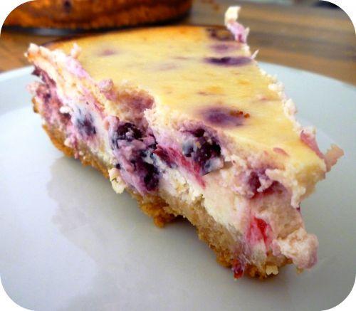 Cheesecake à la crème de vanille et de mûres