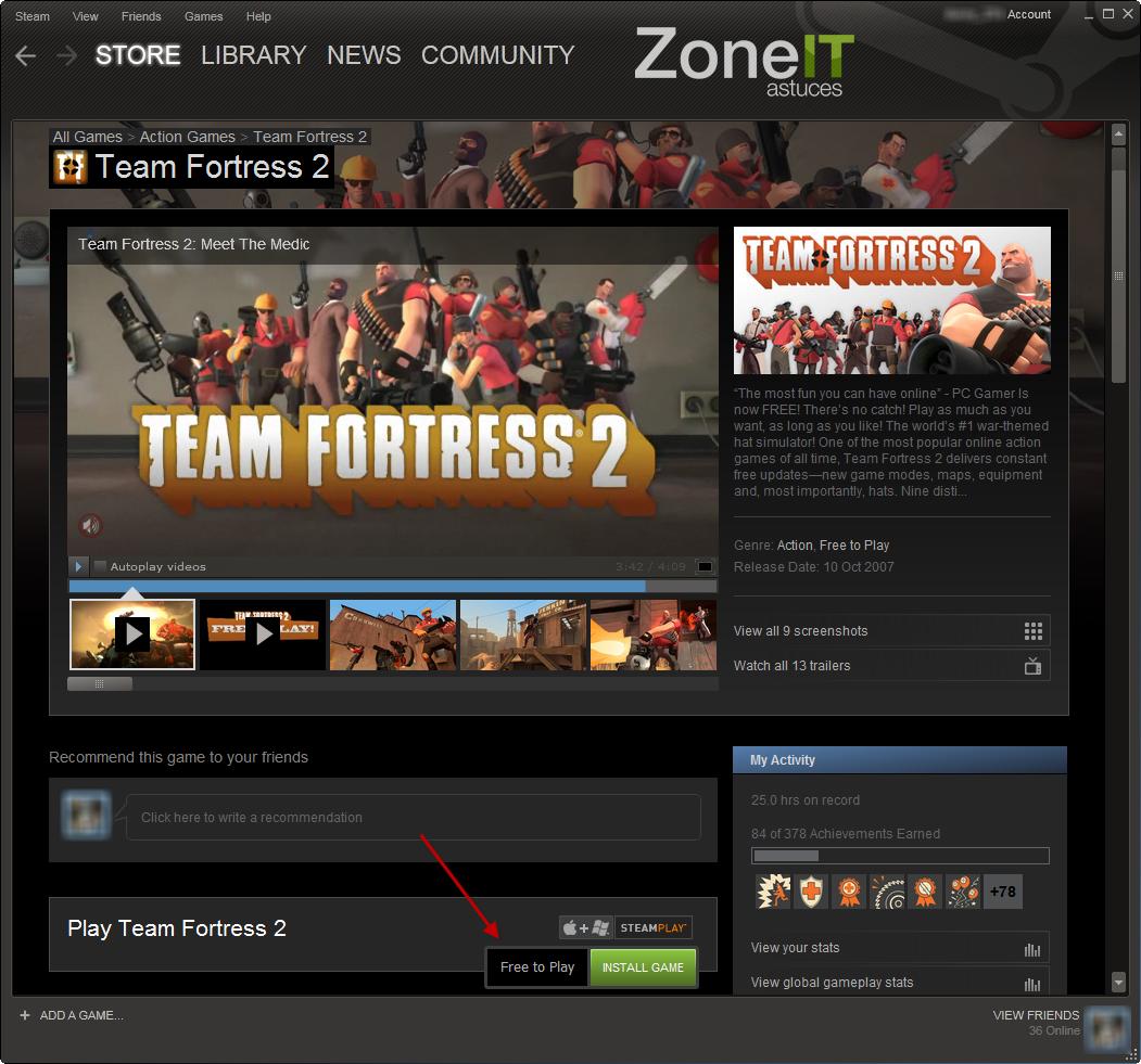 Team Fortress 2 devient gratuit!