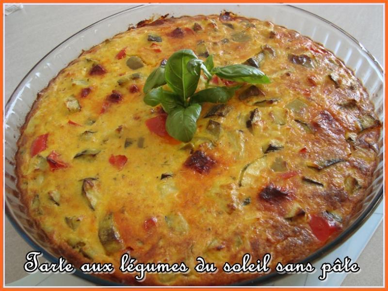 Tarte aux légumes du soleil sans pâte