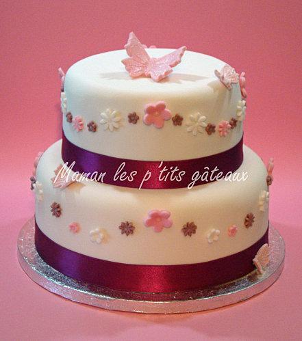 Wedding cake petites fleurs