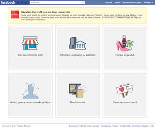 Facebook Transformer Profil en Page