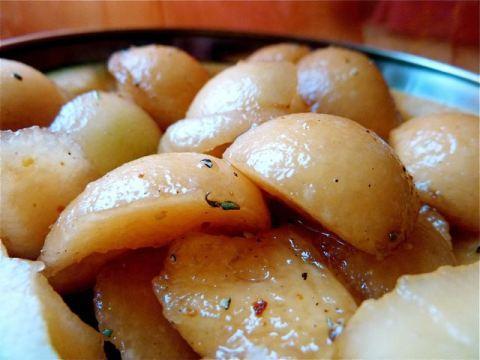 Melon au caramel de balsamique et au porto