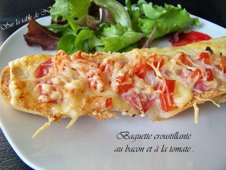 Baguette croustillante au bacon et à la tomate 2