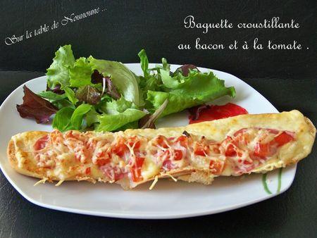 Baguette croustillante au bacon et à la tomate 1
