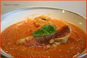 soupe fenouil tomates et poissons