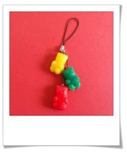 bijoux de sac nounours fimo