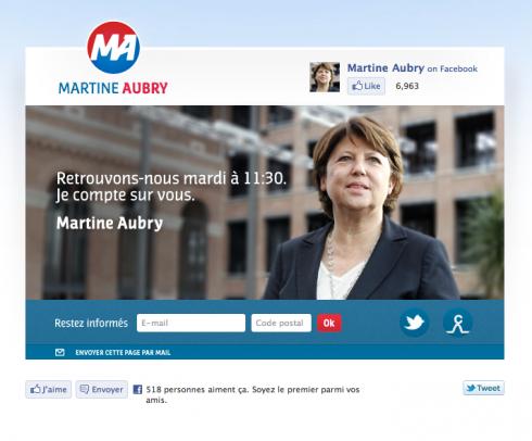 LE NOUVEAU LOGO DE MARTINE AUBRY