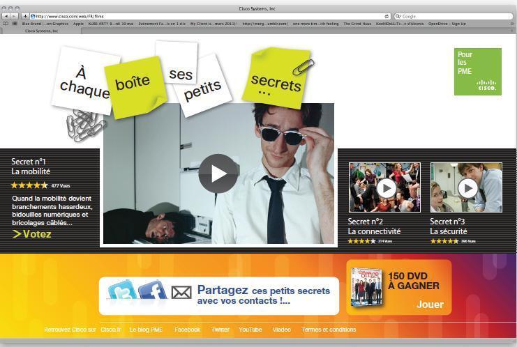 Découvrez la nouvelle campagne de communication décalée de CISCO