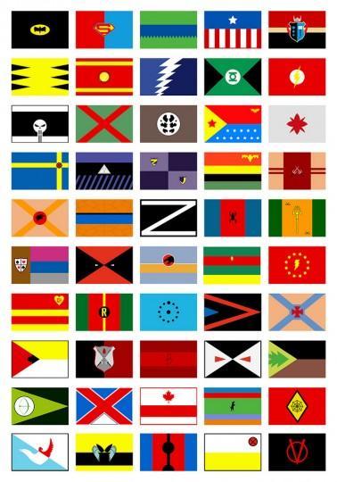 superher flags full 378x540 Les drapeaux des super heros
