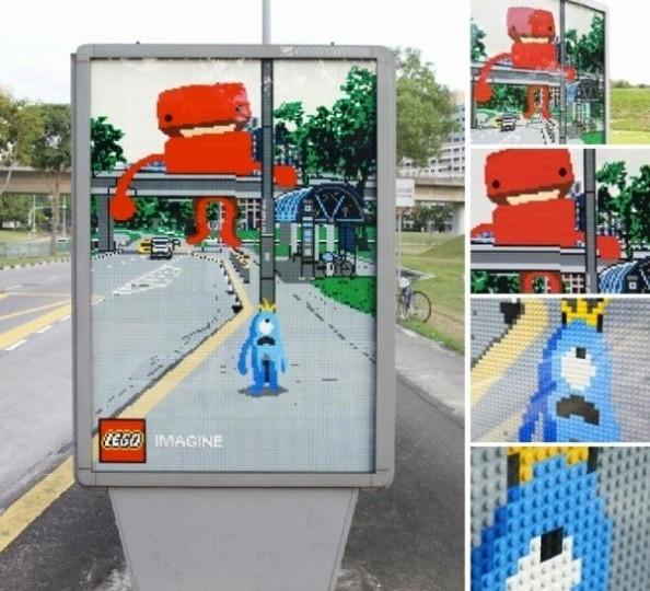 lego1 594x540 Des affiches Lego qui mélangent fiction et réalité