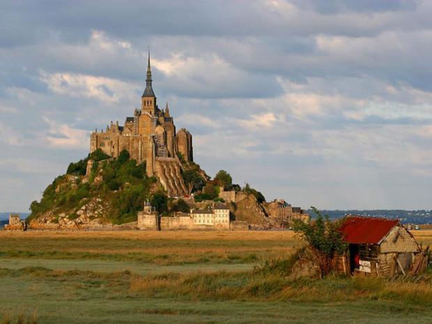 Le Mont-Saint-Michel, dans la Manche, en Basse-Normandie (France).